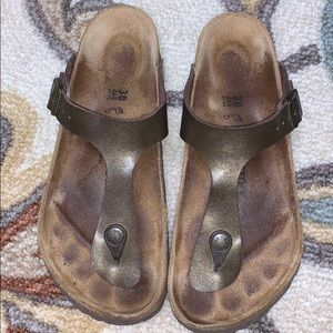 Excellent condition Birkenstock's Bronze size 38